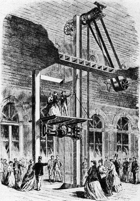 Изобретение безопасного лифта.