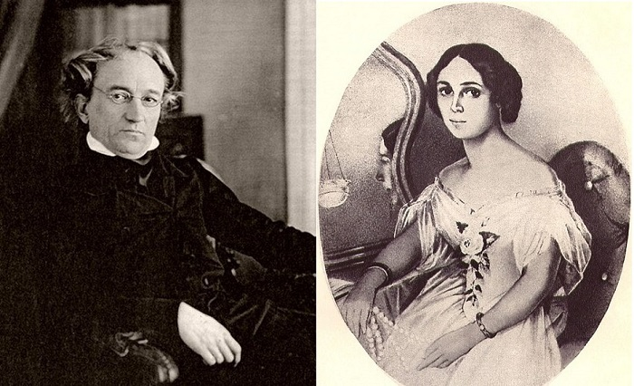 Федор Тютчев и Елена Денисьева.