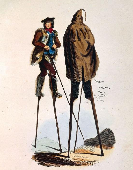 Открытка с изображением ландцев, 1843 год.