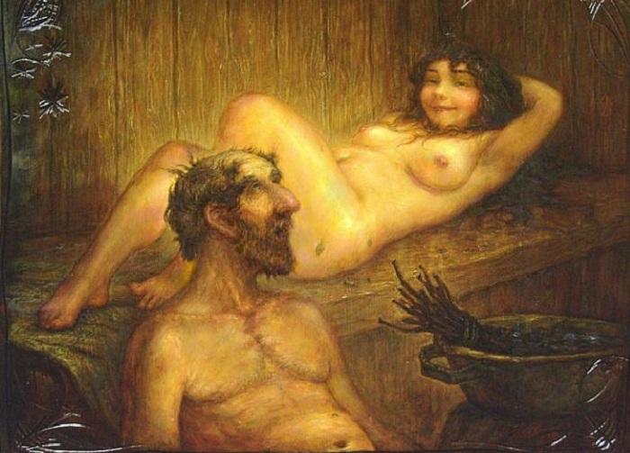 Секс в бане сексуальных девочек фото 462-291