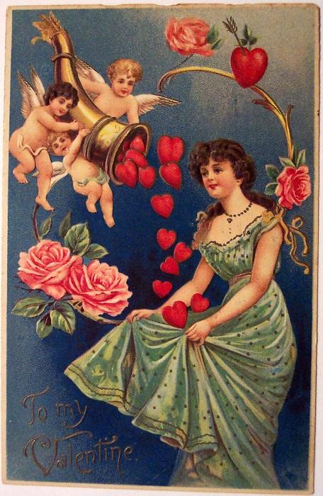 Валентинка XIX века. | Фото: cp12.nevsepic.com.ua.