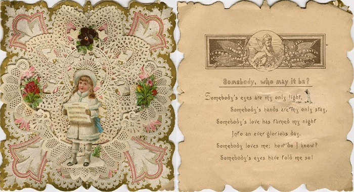 Валентинка, украшенная кружевами. | Фото: mafrance.ru.