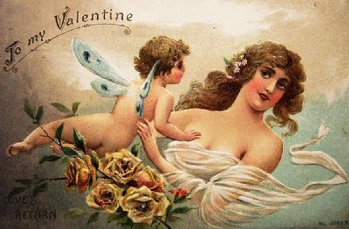 Купидоны - популярные изображения для валентинок. | Фото: lh5.ggpht.com.