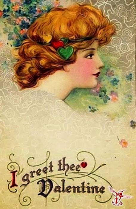 Поздравительная открытка ко Дню Святого Валентина XIX века. | Фото: vestnikk.ru.