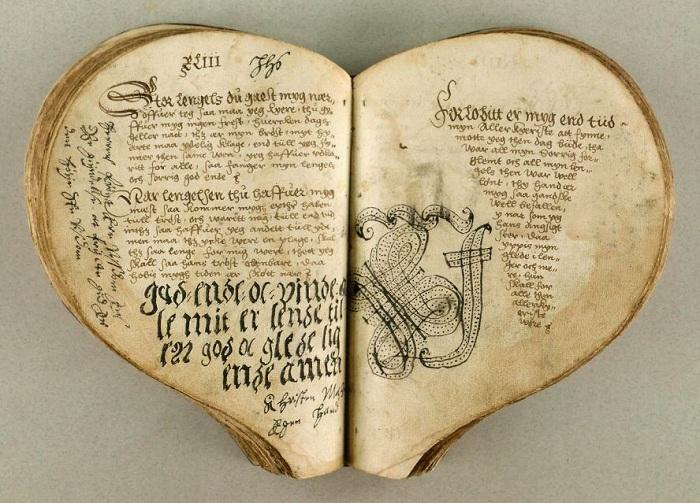 «Сердечная книга» датского короля Кристиана III. | Фото: static.diary.ru.