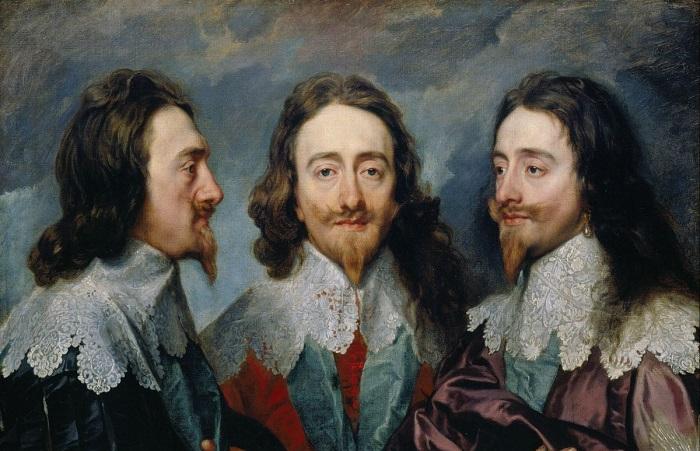 Тройной портрет Карла I. Антонис ван Дейк, 1636. | Фото: ic.pics.livejournal.com.