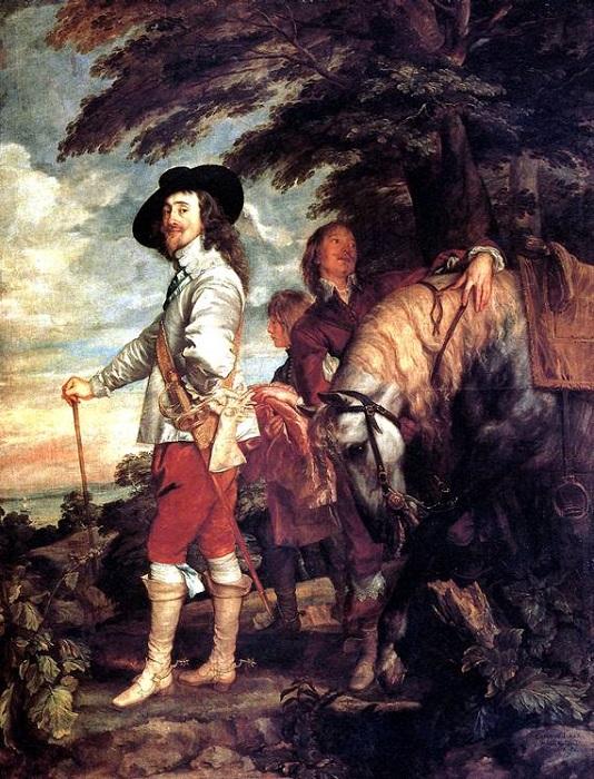 Карл I, король Англии, на охоте». Антонис ван Дейк. | Фото: jivopis.org.