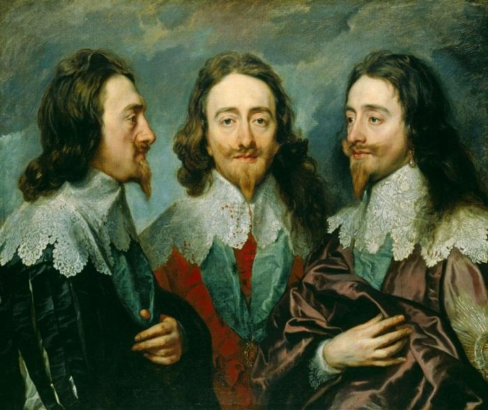 Тройной портрет Карла I. Антонис ван Дейк, 1636. | Фото: cdn.photoholding.com.