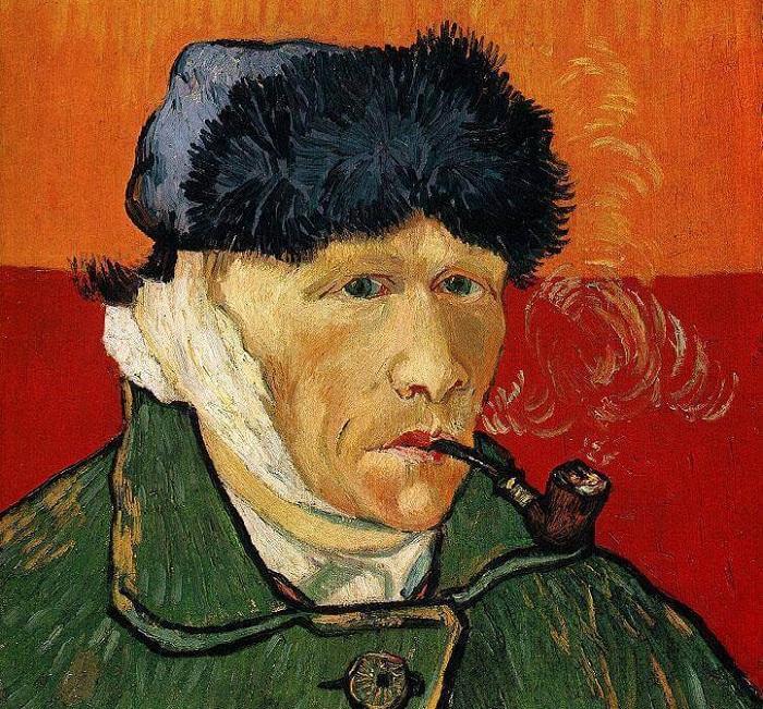 Автопортрет с отрезанным ухом и трубкой. Ван Гог, 1889 год.   Фото: arts-dnevnik.ru.
