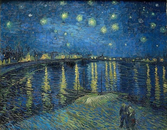 Звездная ночь над Роной. Ван Гог. | Фото: arts-dnevnik.ru.