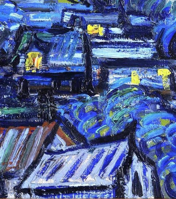 Звездная ночь. Фрагмент. | Фото: media.licdn.com.