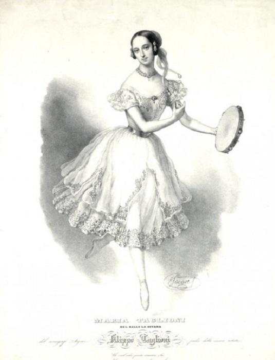 Мария Тальони - первая балерина, отважившаяся выступать в юбке выше лодыжек. | Фото: fashiony.ru.