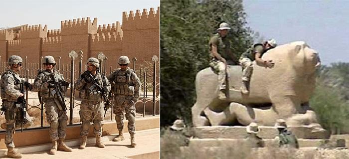В 2003-2004 гг. американские войска дислоцировались на руинах Вавилона.
