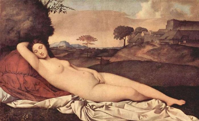 Венера спящая. Джорджоне, 1510 году. | Фото: arts-dnevnik.ru.