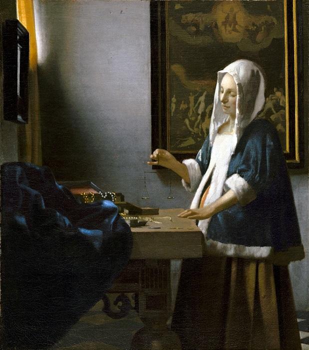 Женщина с весами. Ян Вермеер, 1662-1663 гг. | Фото: bt.kiev.ua.