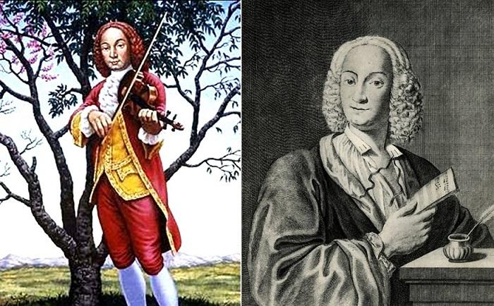 У Вивальди была копна рыжих волос, но часто он носил парик.