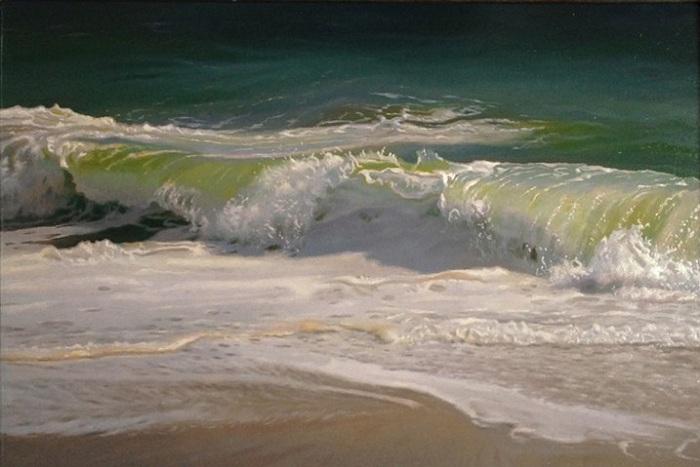 Картина с морским пейзажем.