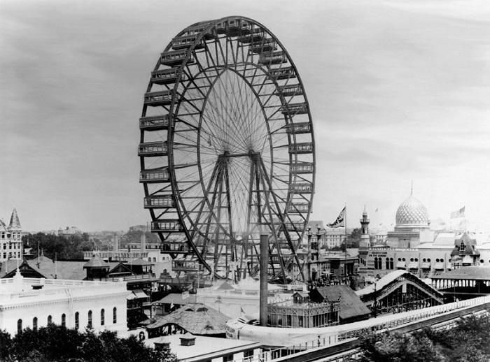 Первое в мире колесо обозрения. | Фото: messynessychic.com.