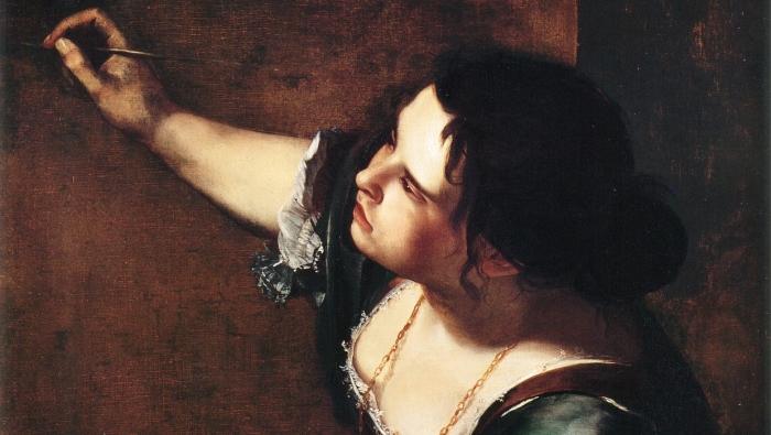 Автопортрет в обреза аллегории Живописи. А. Джентилески, 1638-1639 гг. | Фото: artguide.com.