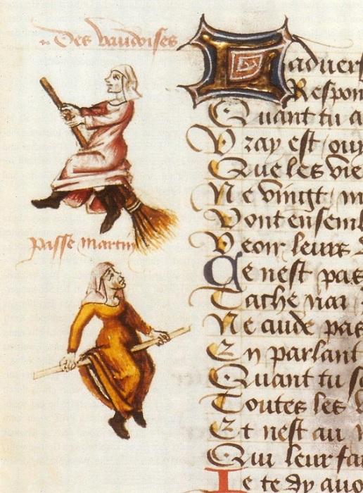 Иллюстрация из Поэмы о ведьмах, Мартина ле Франка (1451). | Фото: scisne.net.