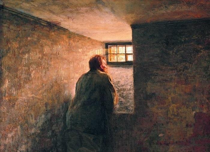 Заключенный. Н. Ярошенко, 1878 год. | Фото: itd0.mycdn.me.