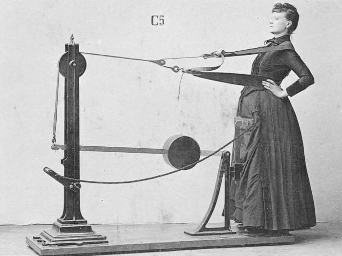 Тренажер, разработанный физиотерапевтом Густавом Цандером в XIX веке. | Фото: fizyoo.com.