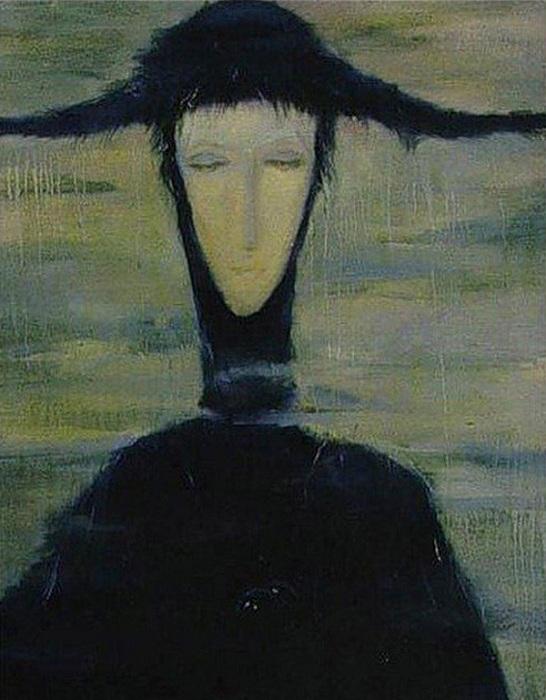 Женщина дождя. Светлана Телец, 1996 год. | Фото: osimira.com.