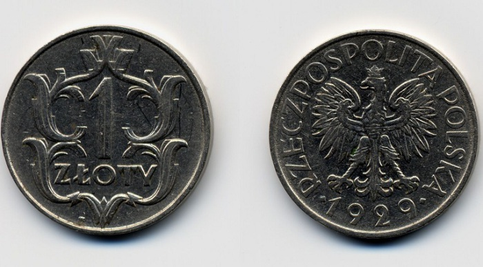 Монета 1929 года в 1 злотый. | Фото: ksjuwa.ucoz.ru.