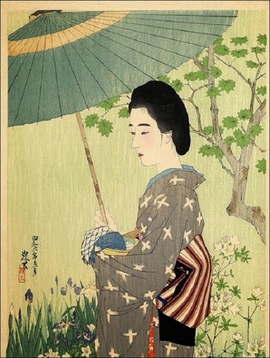 Гейша с зонтиком. | Фото: storyfiles.blogspot.com.
