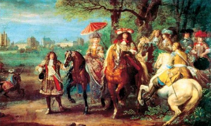 Зонтики стали популярными в XVI веке во Франуии. | Фото: zaz.gendocs.ru.