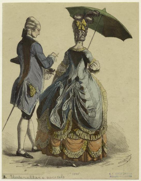 В России парасоль стал называться зонтиком. | Фото: m6.paperblog.com.