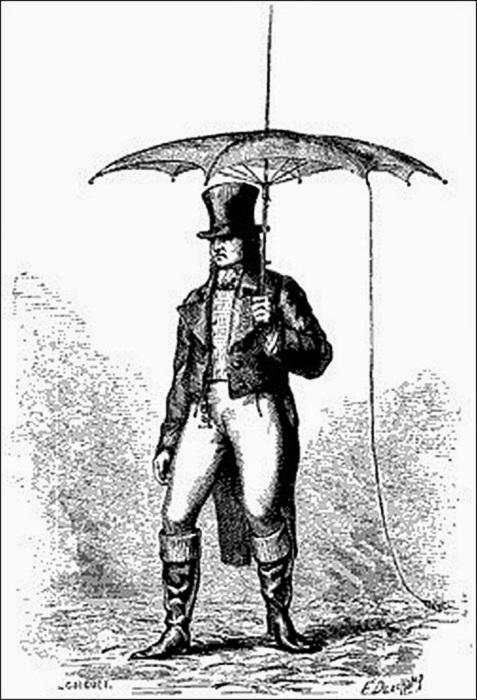 Зонт с громоотводом, XIX века. | Фото: storyfiles.blogspot.com.