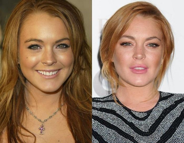 Актриса Lindsay Lohan, известная своим скандальным образом жизни.