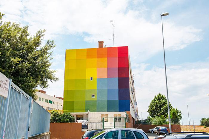 Граффити в неблагополучных районах города.