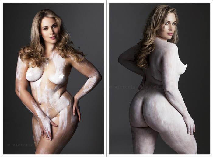 Victoria Janashvili  делает книгу о естественной красоте тела.