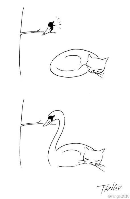 Простые и позитивные иллюстрации.