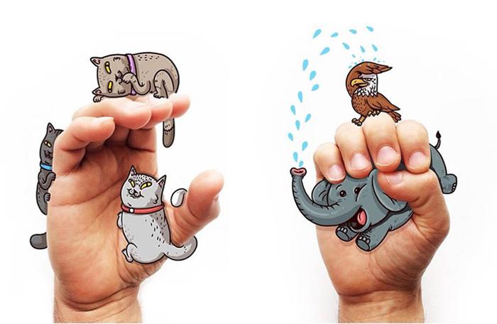 Иллюстрации, помогающие выучить язык жестов.