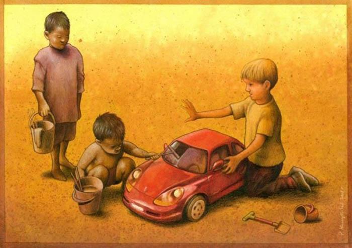 Карикатуры на тему общественных проблем.