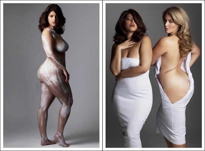 Фотографии женщин с весом, далеким от модельных стандартов.