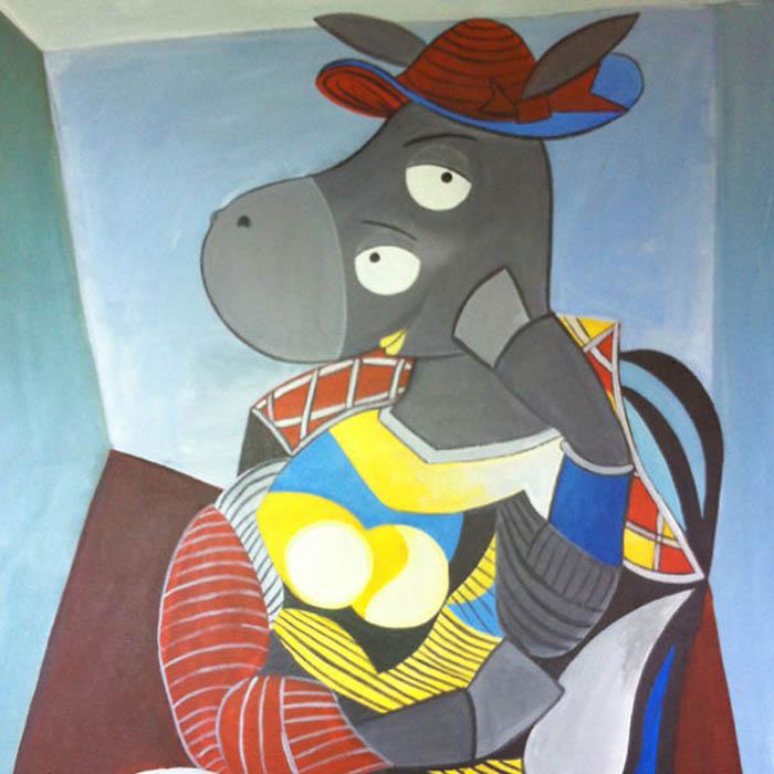 Пабло Пикассо, Сидящая женщина в красной шляпе.