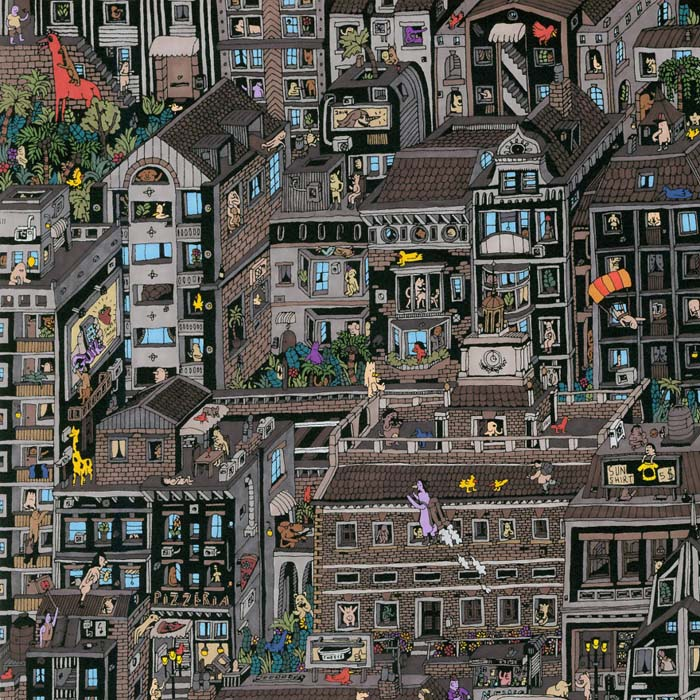 Рисунки города в миниатюре от Mr Guil.