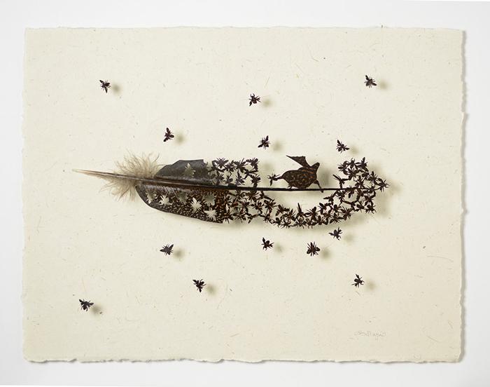 Невероятные картины из птичьих перьев.
