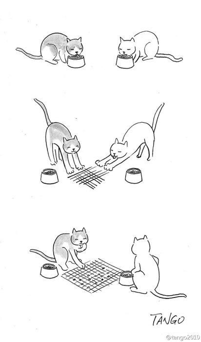 Смешные комиксы про животных.