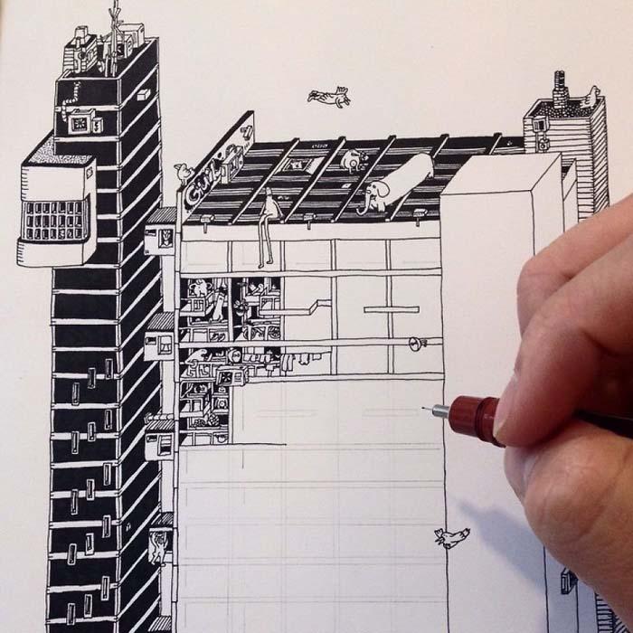 Процесс создания городской миниатюры от Mr Guil.