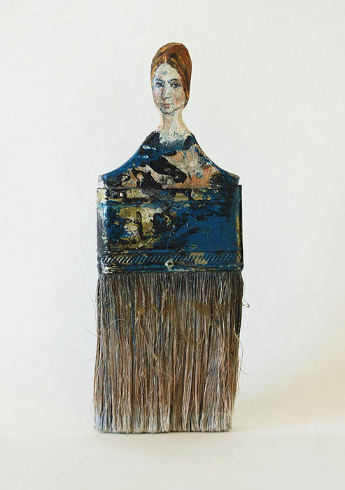 Разрисованные кисти от Rebecca Szeto.
