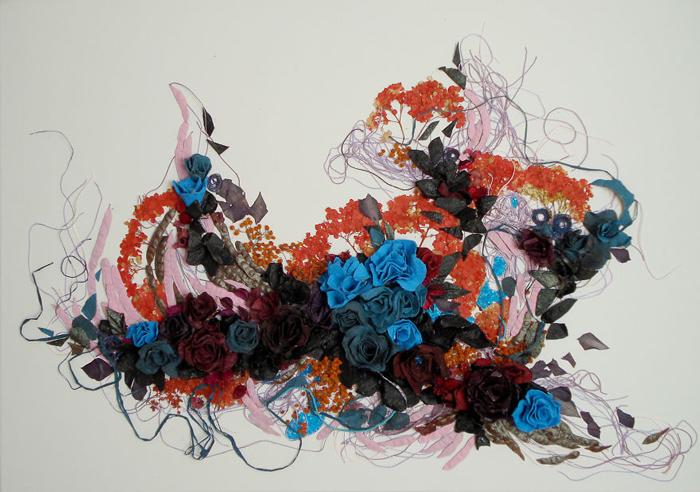 Изящные коллажи из природных материалов от белорусской художницы.