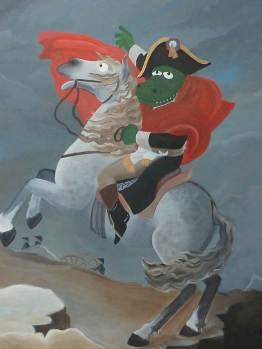 Жак-Луи Давид, Наполеон на перевале Сен-Бернар.
