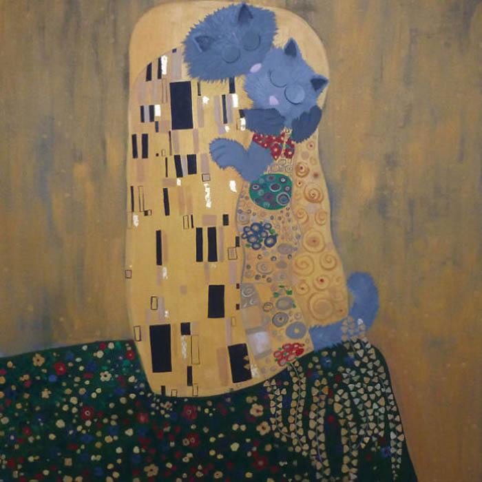 Густав Климт, Поцелуй.