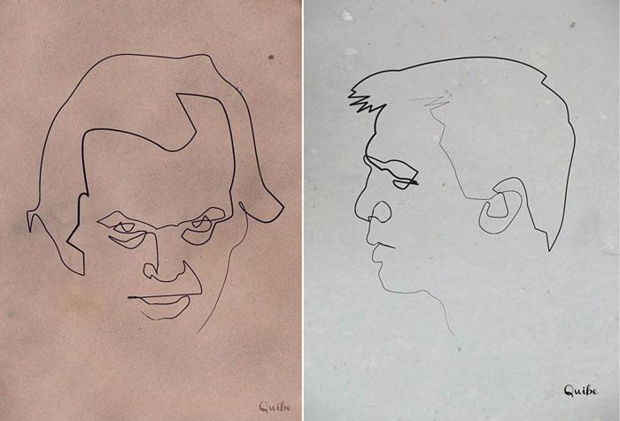 Портреты, нарисованные одним росчерком.