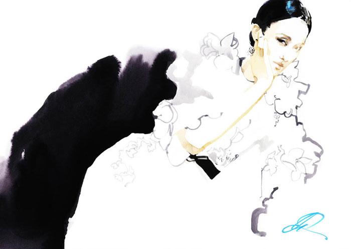 Иллюстрации David Downton.